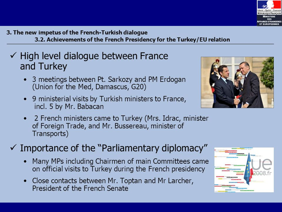 3. The new impetus of the French-Turkish dialogue 3.2.