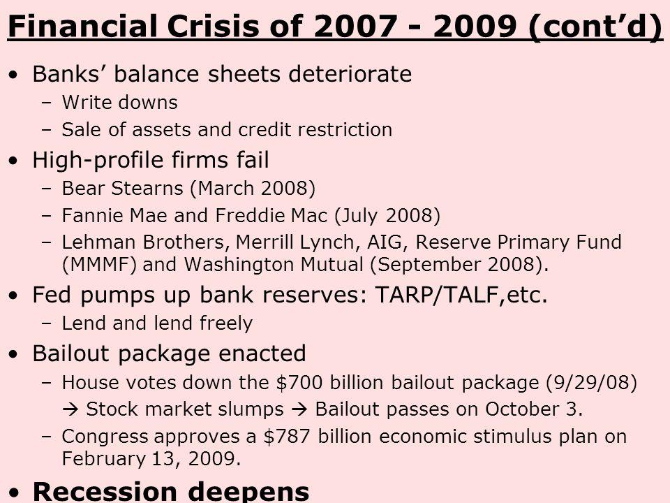 700 billion economic stimulus bailout package essay