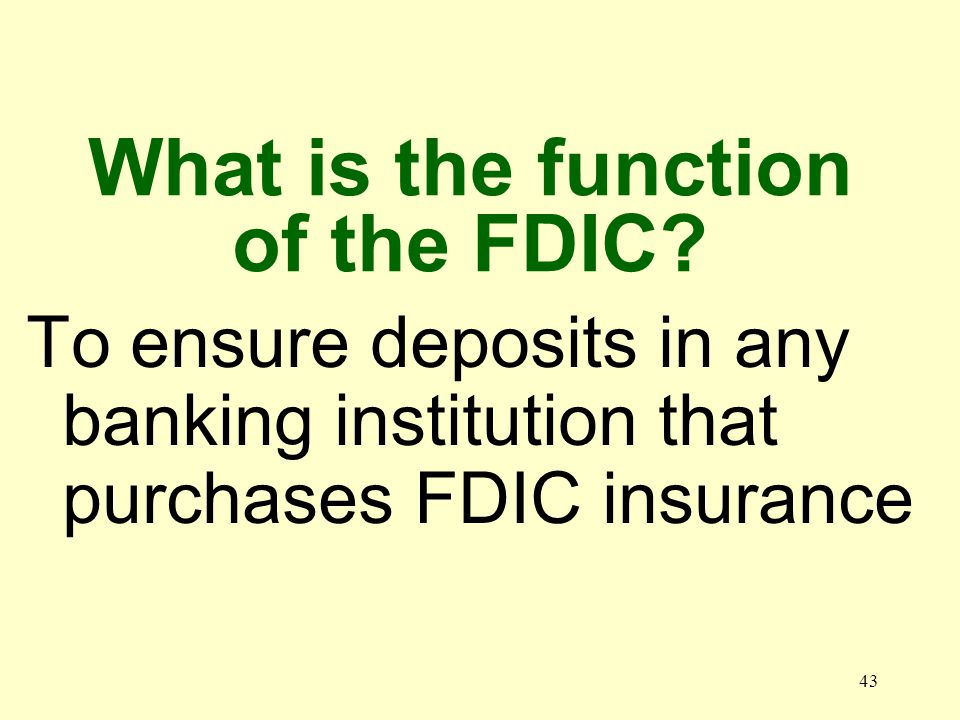 42 When was the FDIC established 1933
