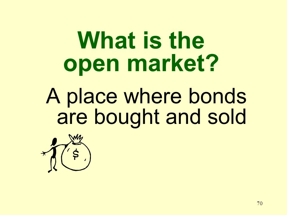 69 What is a government security A short term bond that the federal government sells
