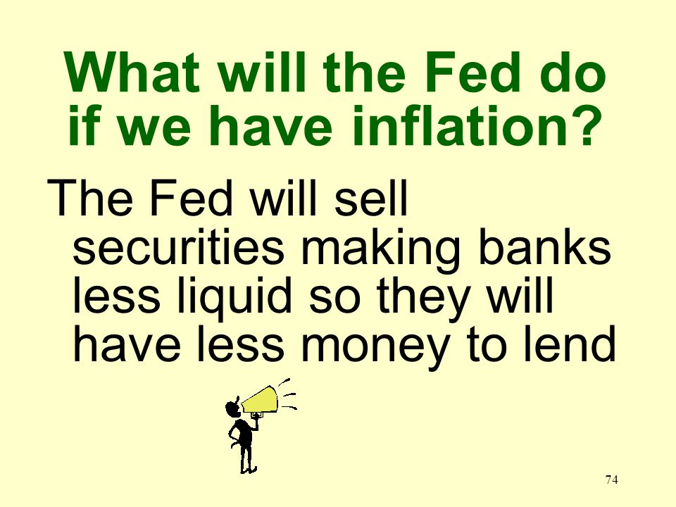 73 What will the Fed do if we have unemployment.