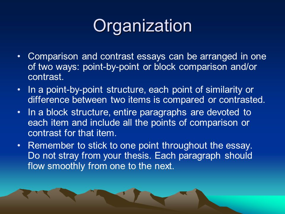 Compare And Contrast Essay Point By Point