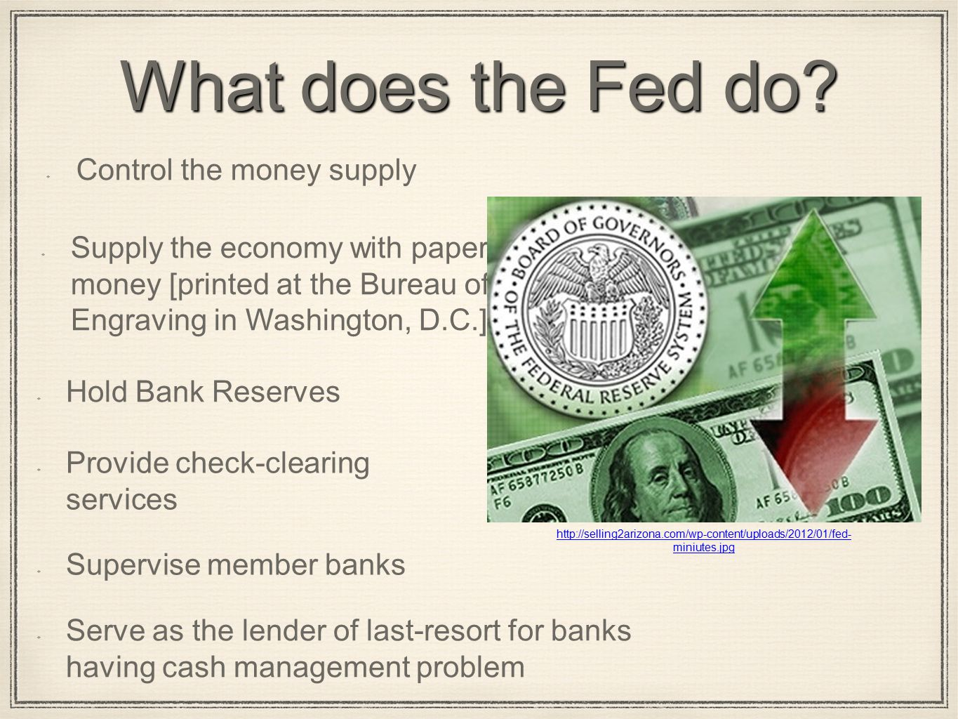 What does the Fed do.