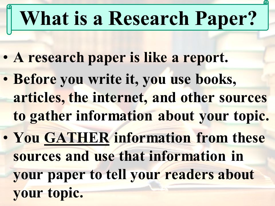 Research for writing
