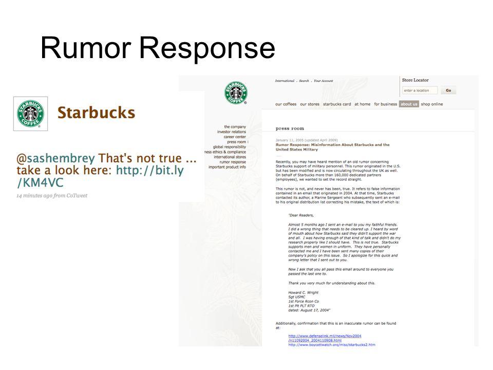 Rumor Response