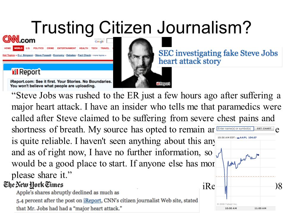 Trusting Citizen Journalism.