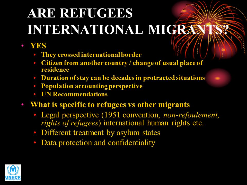 ARE REFUGEES INTERNATIONAL MIGRANTS.