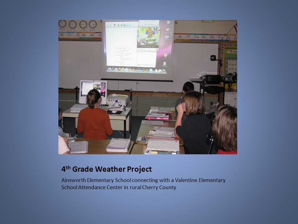 7 4 Th Grade Weather Project Ainsworth Elementary School Connecting With A  Valentine Elementary School Attendance Center In Rural Cherry County