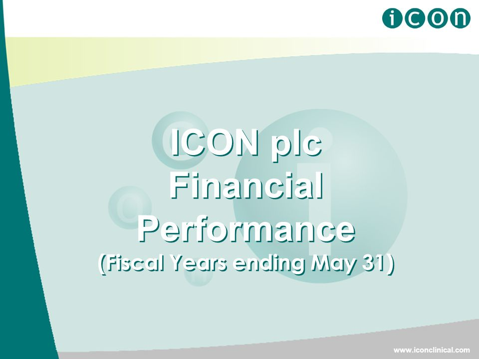 ICON plc Financial Performance (Fiscal Years ending May 31)