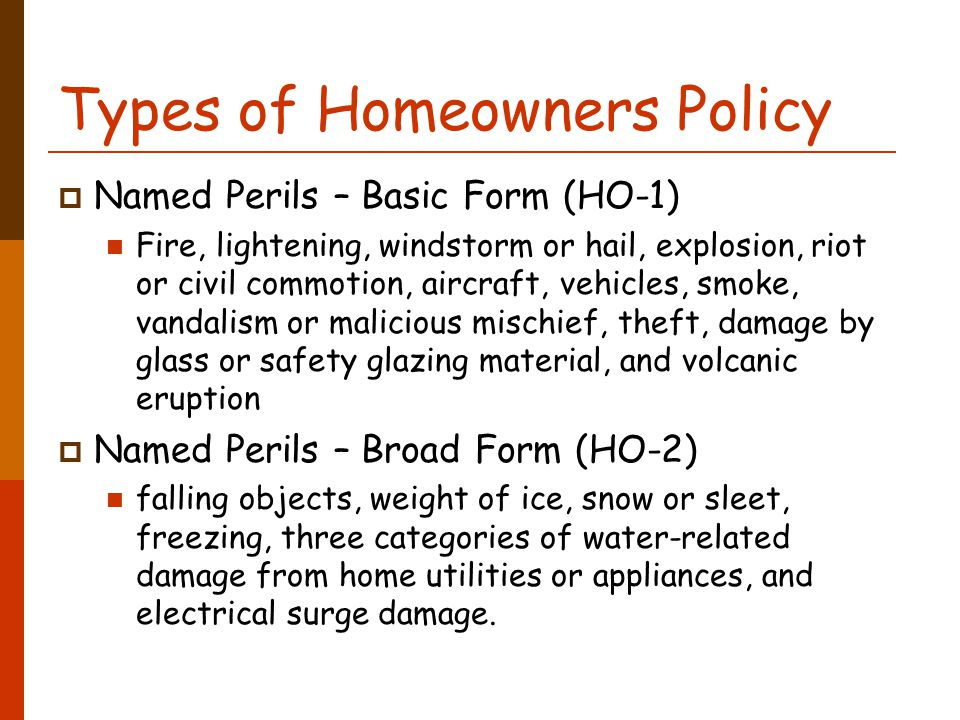 Topic 13. Homeowners Insurance BUS 200 Introduction to Risk ...