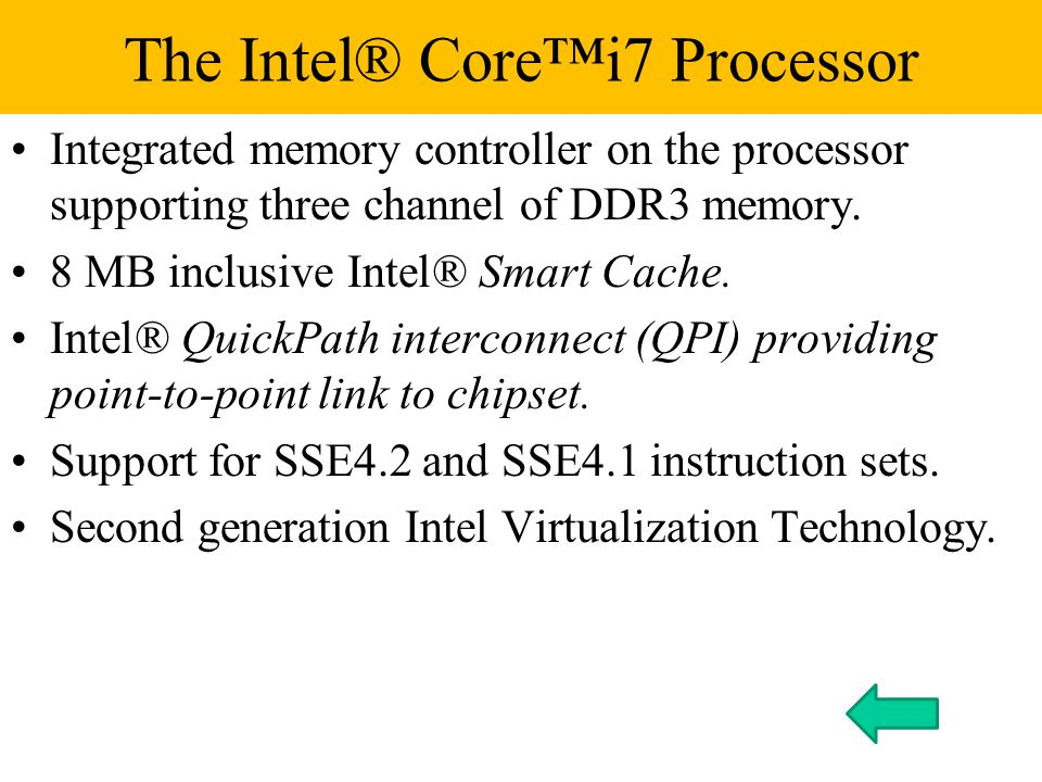 Integrated memory controller on the processor supporting three channel of DDR3 memory.