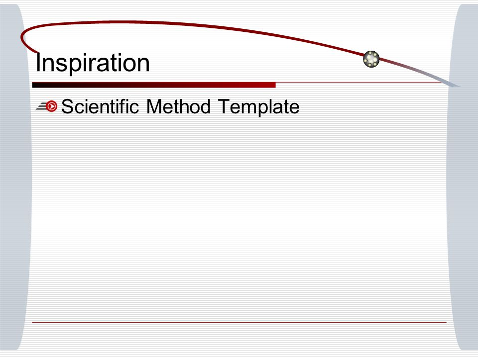 Inspiration Scientific Method Template