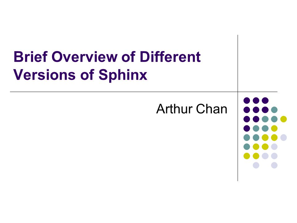 an overview of the sphinx