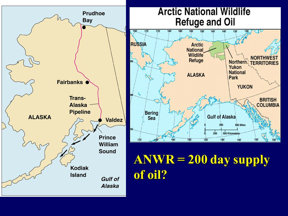 ANWR = 200 day supply of oil