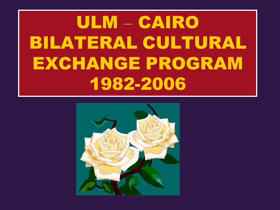 ULM – CAIRO BILATERAL CULTURAL EXCHANGE PROGRAM