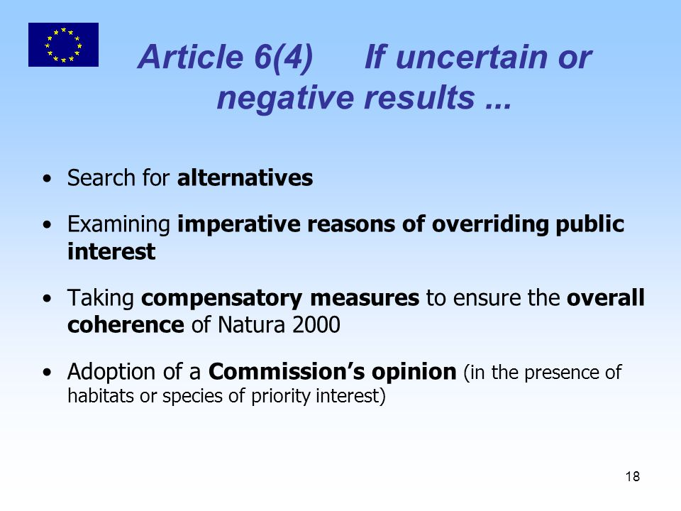 18 Article 6(4)If uncertain or negative results...