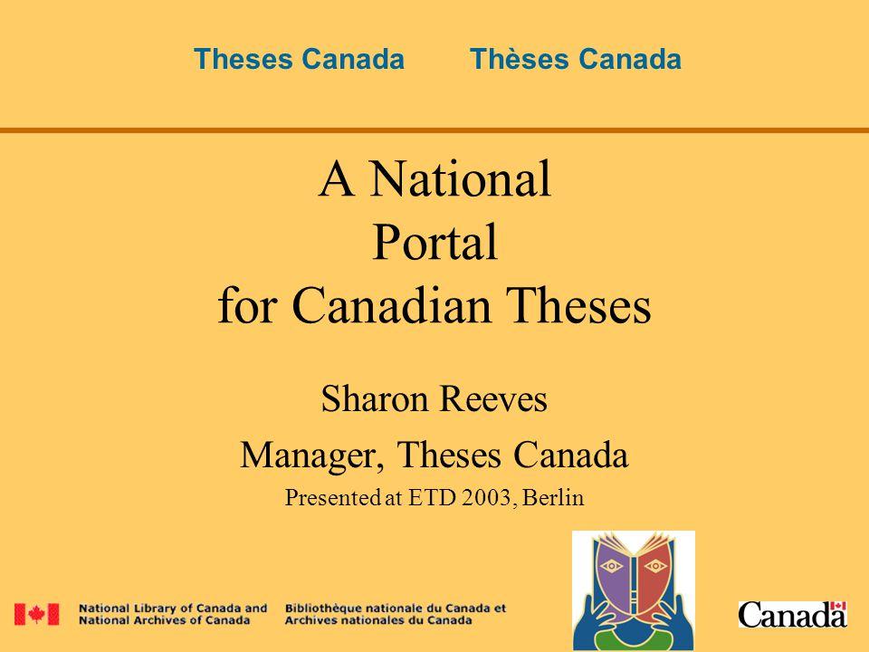 canada portal thesis