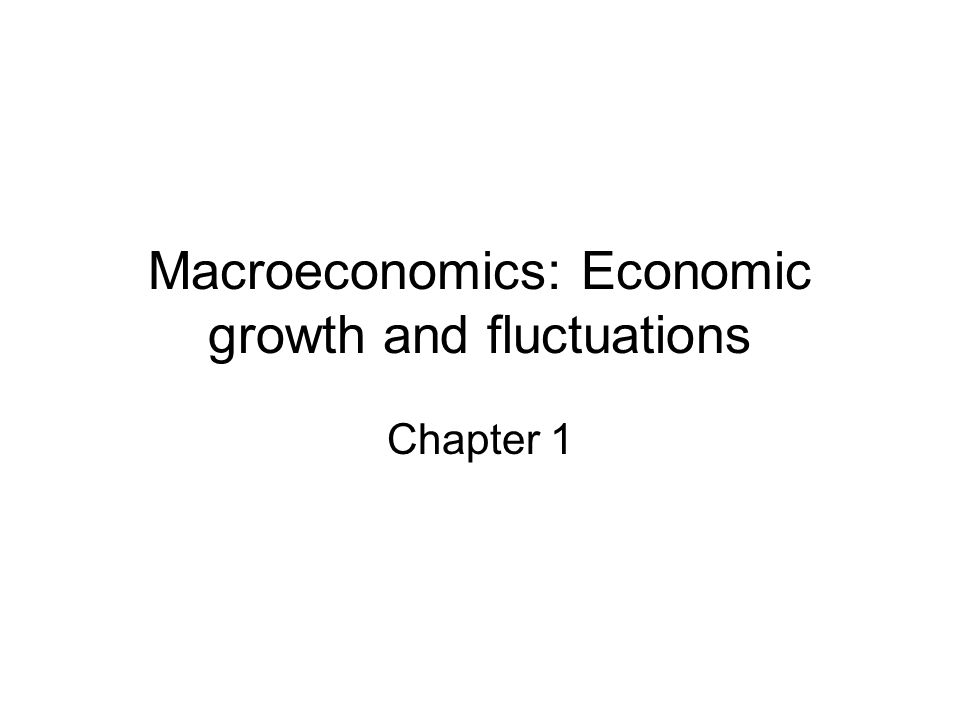 Macroeconomics: Economic growth and fluctuations Chapter 1