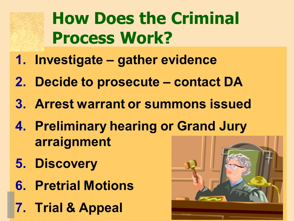 How Does the Criminal Process Work.