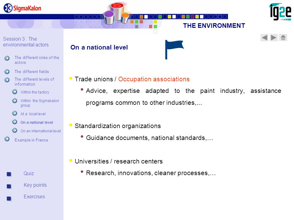  Trade unions / Occupation associations Advice, expertise adapted to the paint industry, assistance programs common to other industries,...