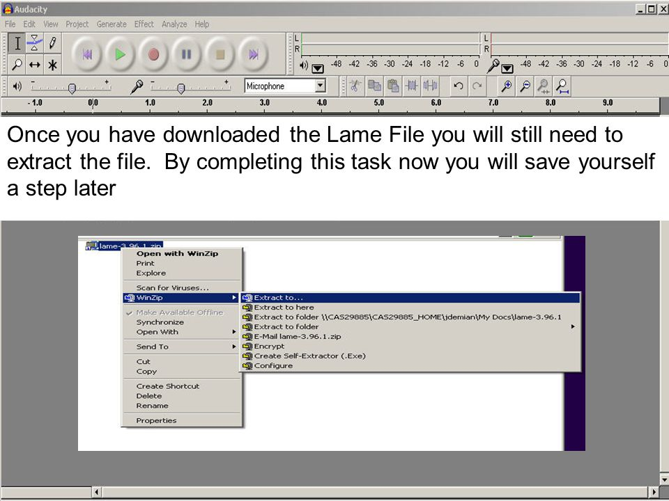 NOTE: MAKE SURE YOU SAVE THE LAME FILE SOMEWHERE YOU WILL NOT DELETE