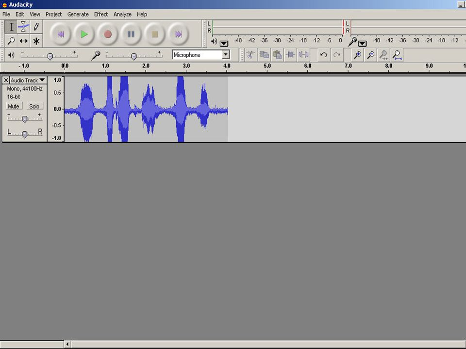 Editing Audio To edit out errors, click the I and highlight the section you want to delete.