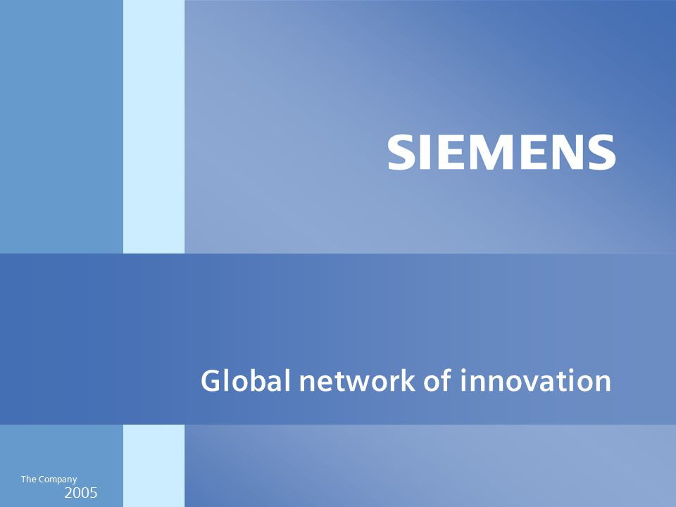 2005 The Company Global network of innovation