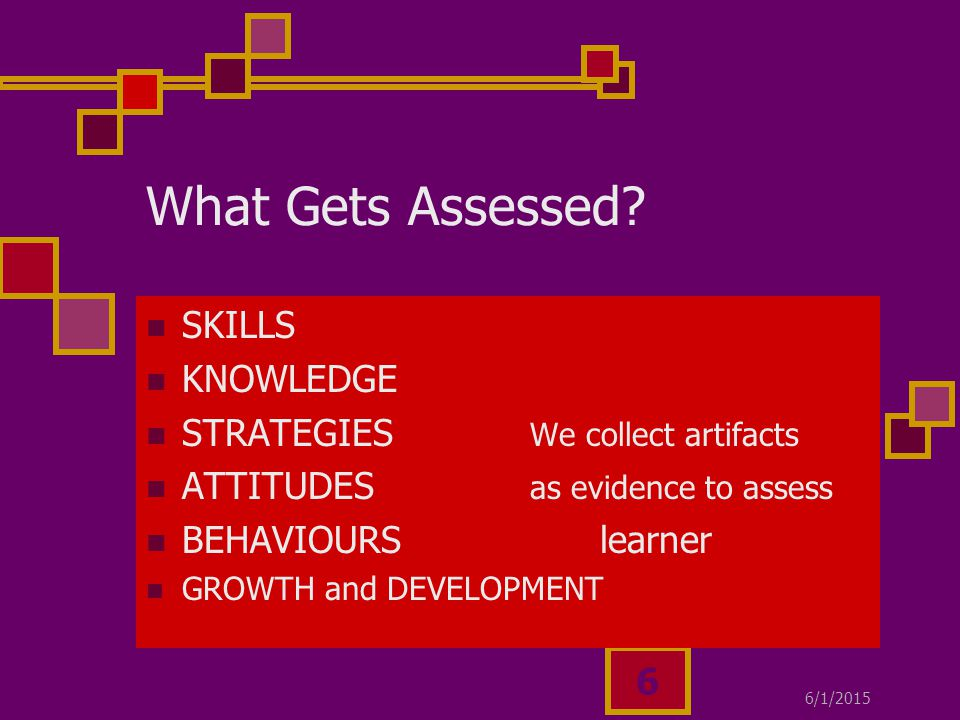 6/1/ What Gets Assessed.