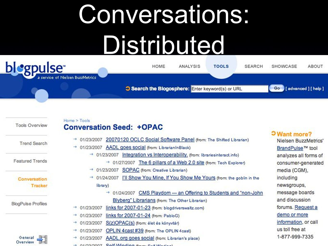 Conversations: Distributed