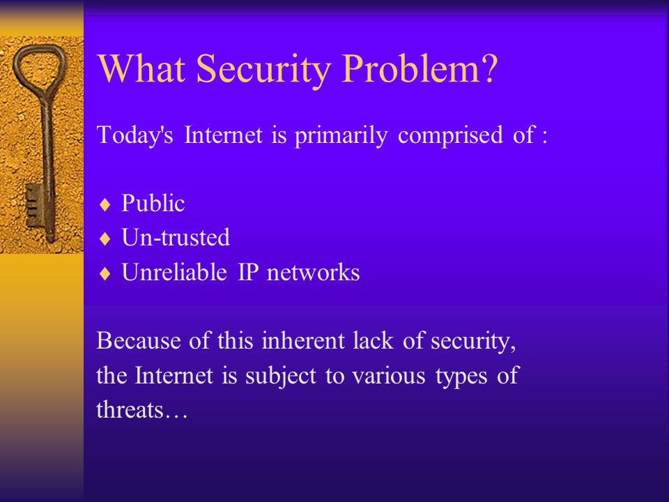What Security Problem.