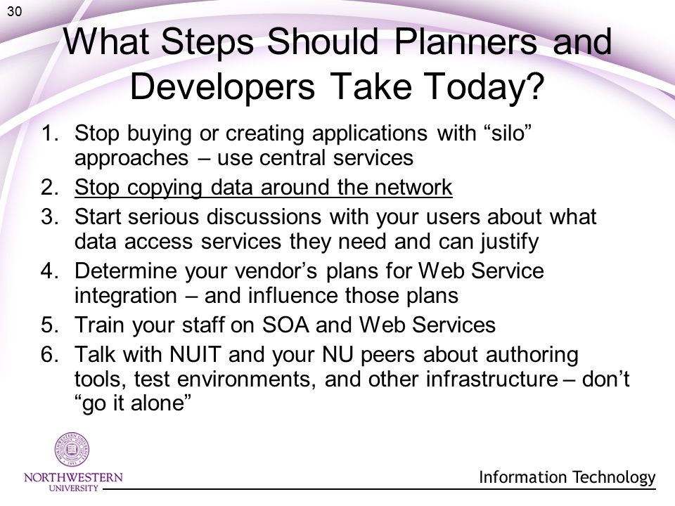 30 What Steps Should Planners and Developers Take Today.
