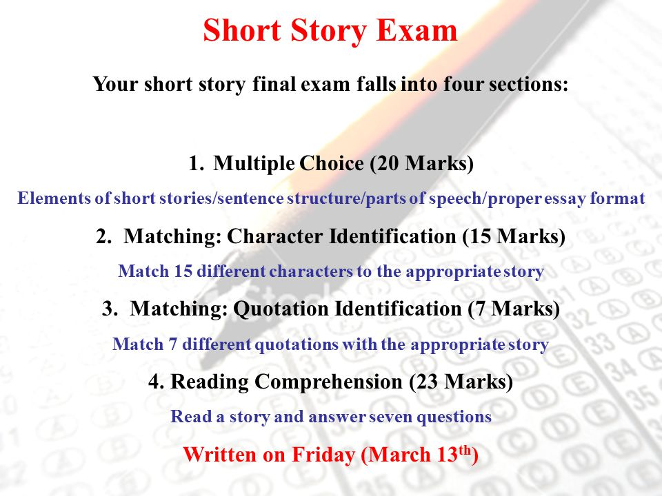 the five elements of a short story essay