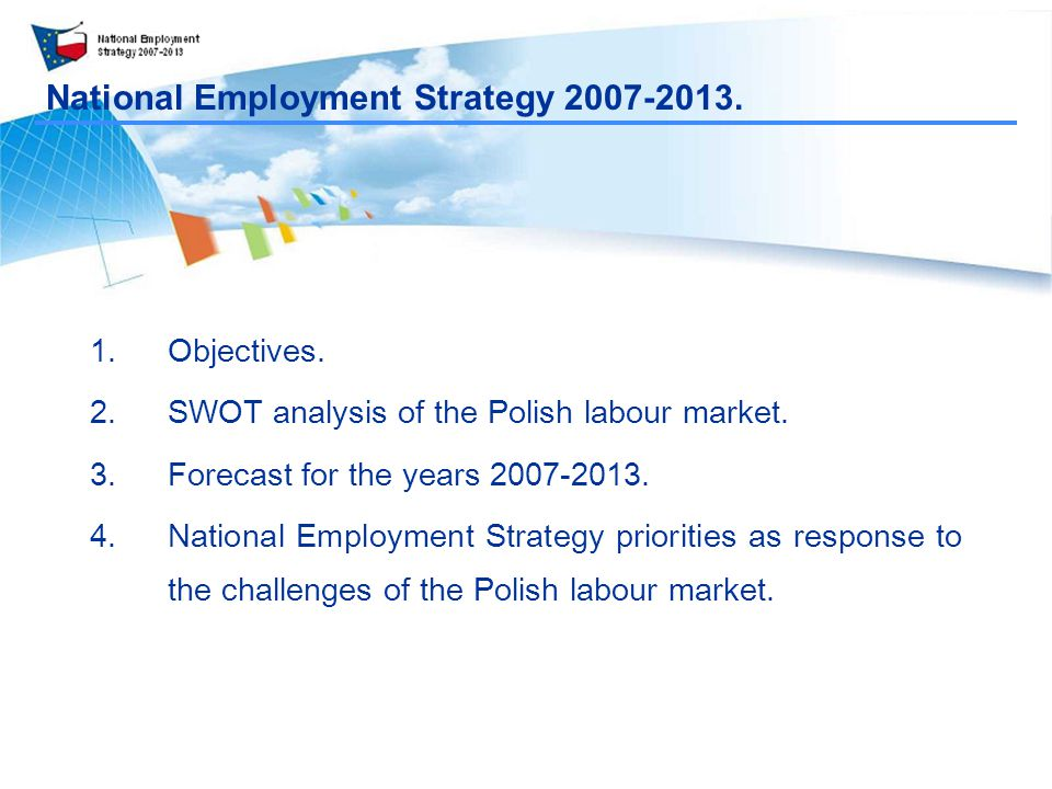 National Employment Strategy Objectives.