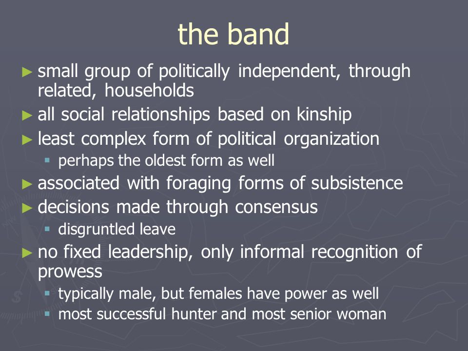 Political Organization and the Maintenance of Order. - ppt download