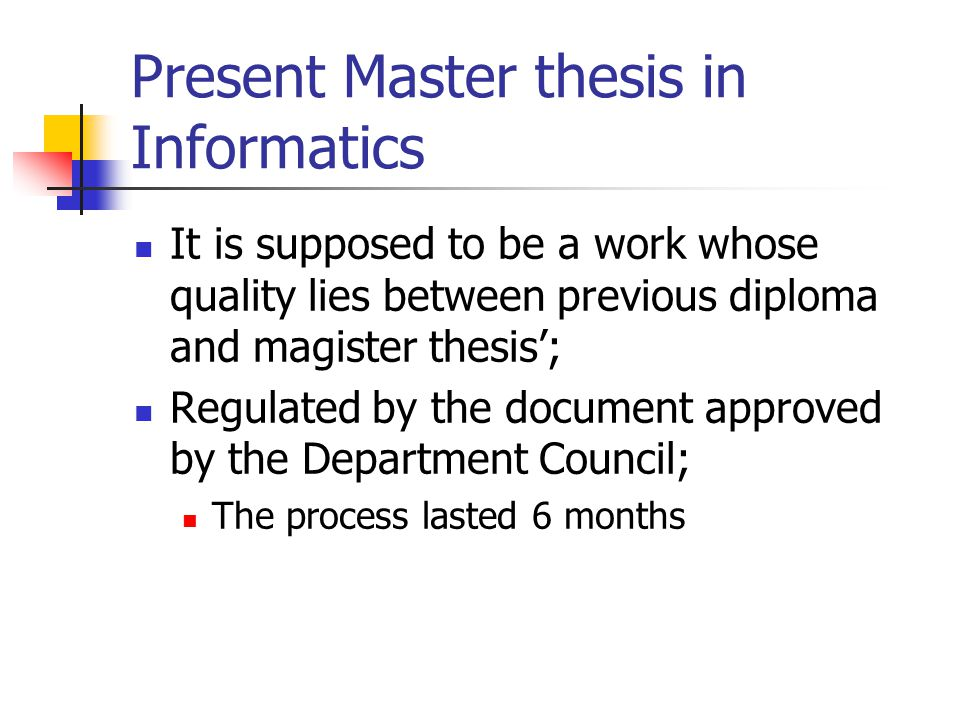 do master thesis