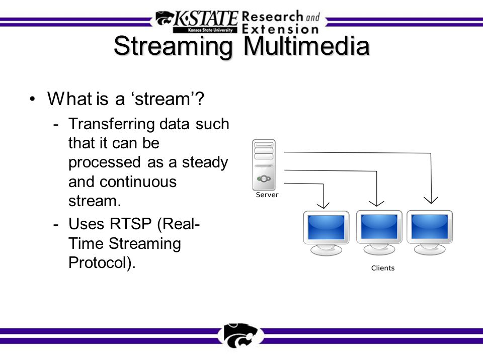 Streaming Multimedia What is a 'stream'.