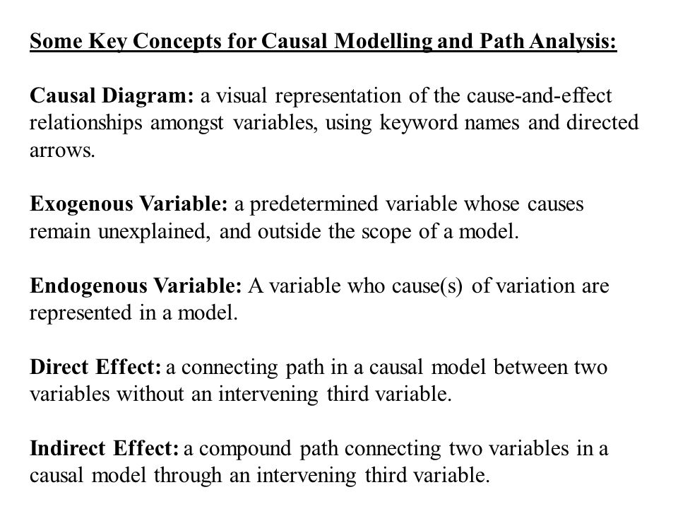 Causal modelling and path analysis some notes on causal modelling some key concepts for causal modelling and path analysis causal diagram a visual representation ccuart Choice Image