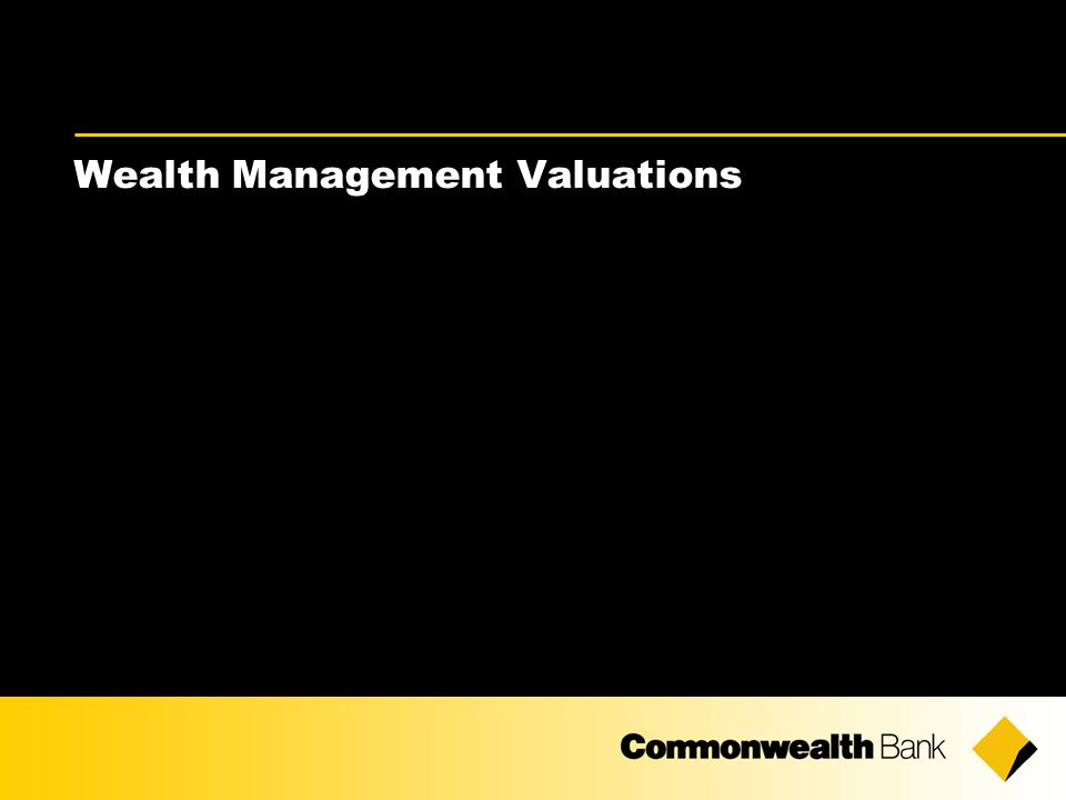Wealth Management Valuations