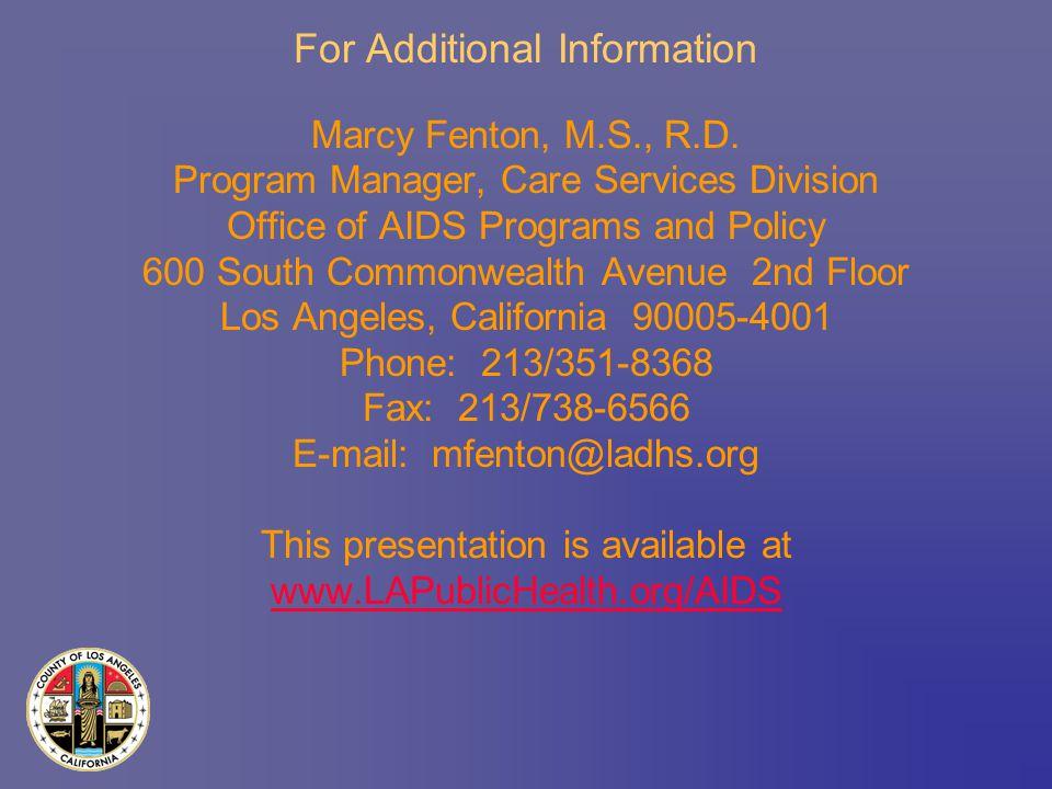 Marcy Fenton, M.S., R.D.