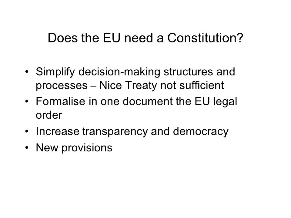 Does the EU need a Constitution.