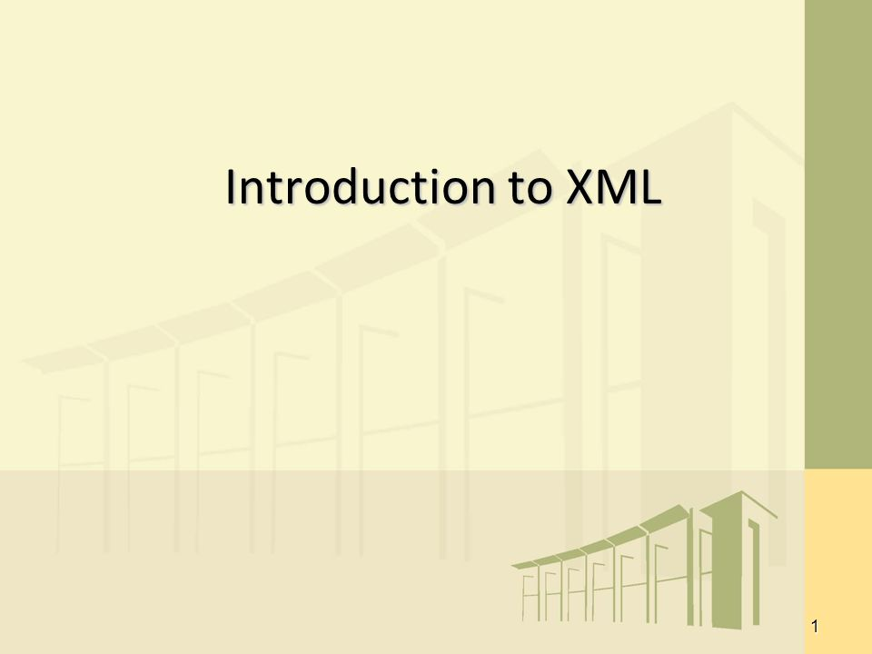 1 Introduction to XML