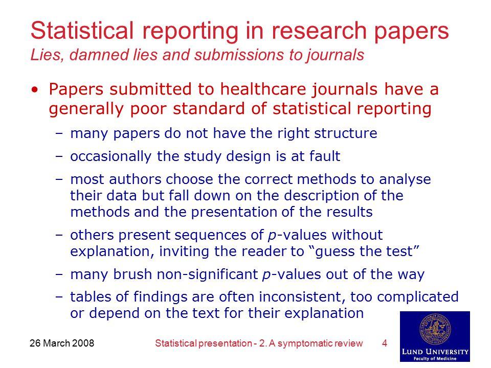 Statistical research paper