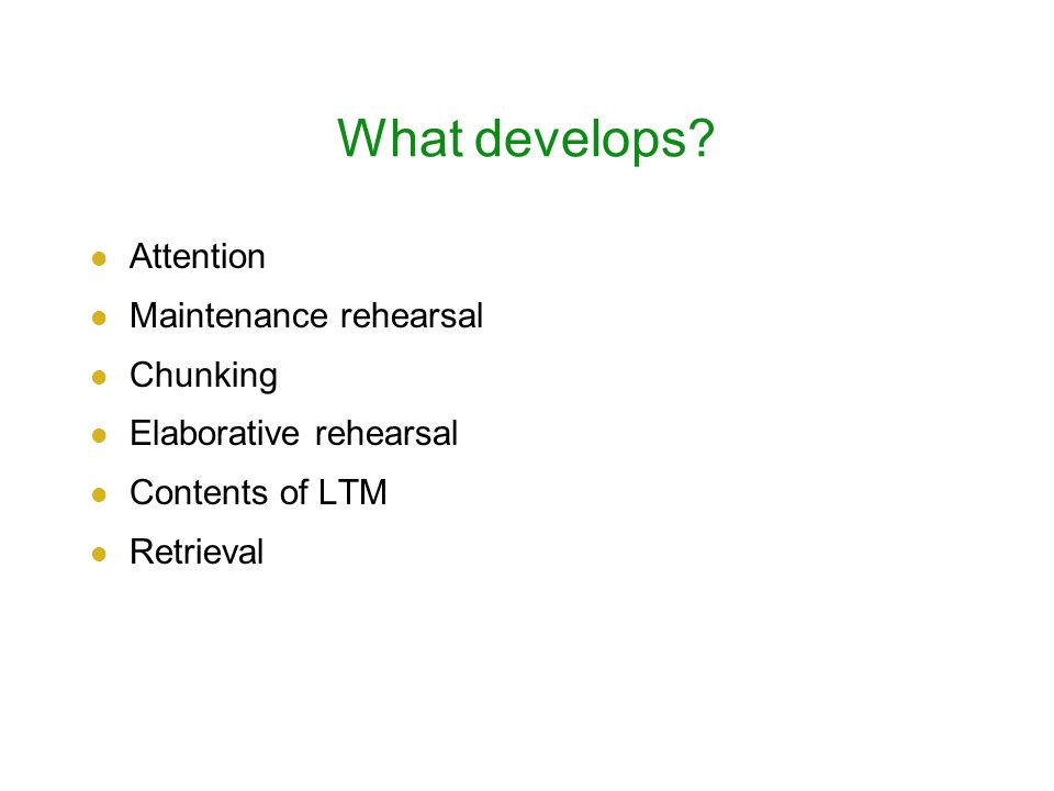 What develops.