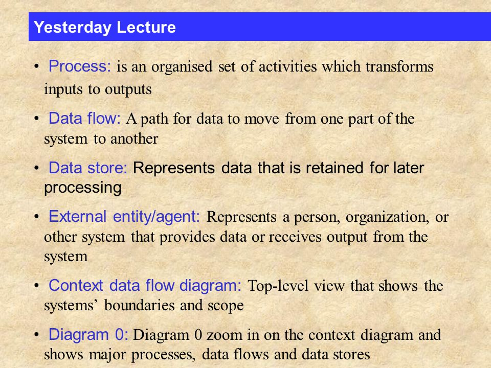 Review Questions The four symbols on a data flow diagram are ...