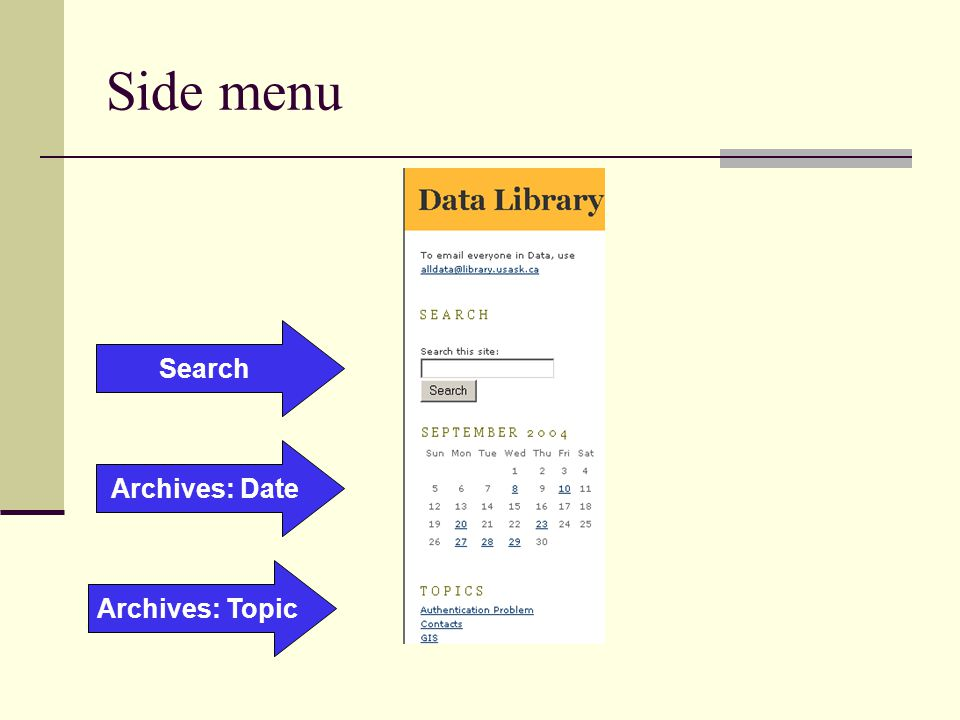 Side menu Search Archives: Date Archives: Topic