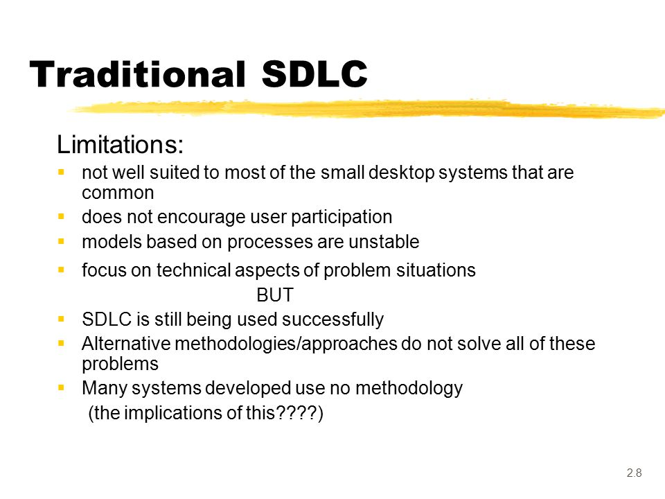 2.1 The traditional SDLC and structured approaches: Structured ...