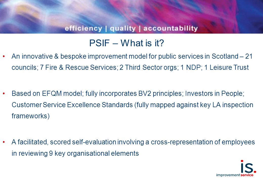 PSIF – What is it.