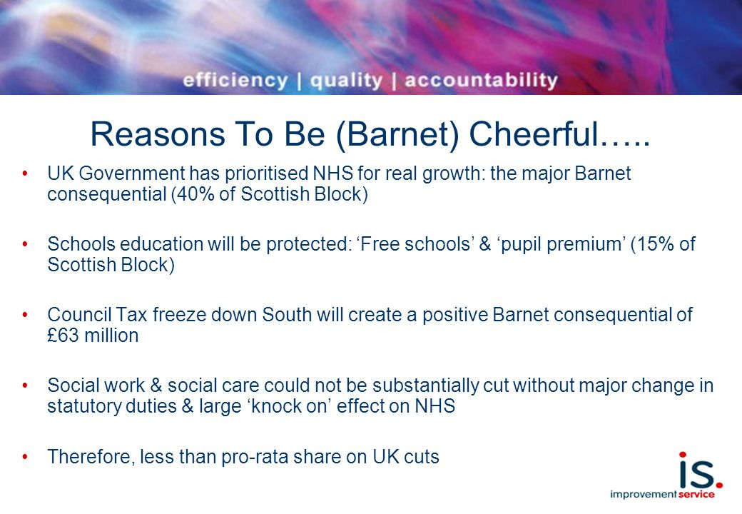 Reasons To Be (Barnet) Cheerful…..