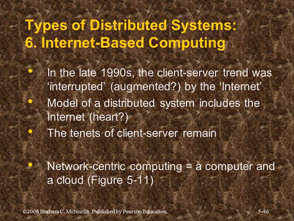 "Presentation ""Distributed Systems: The Overall Architecture ..."