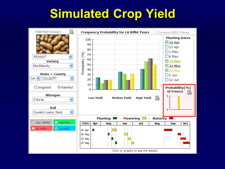 Simulated Crop Yield